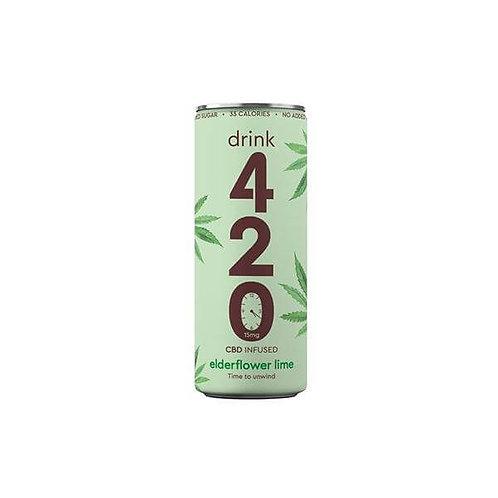 Drink 420 Boisson gazeuse infusée – Fleurs de Sureau et Citron 15 mg x12