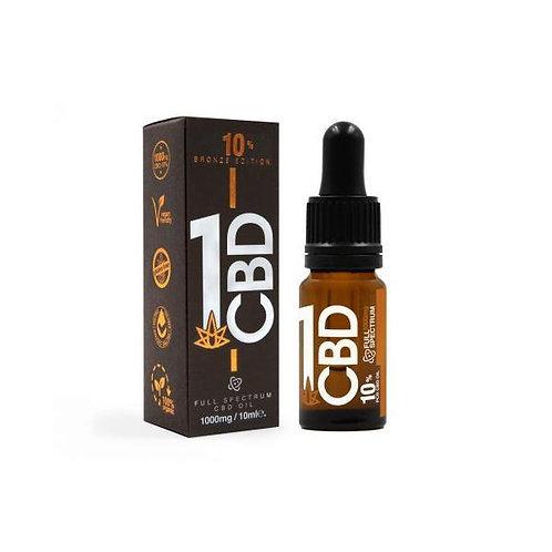 1 CB 10% Pure Hemp 1000mg  Oil Bronze Edition 10ml