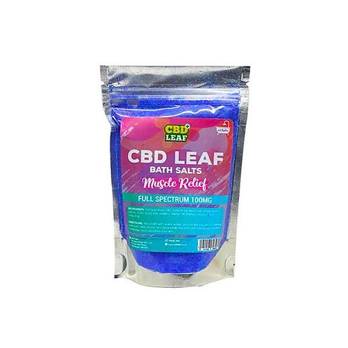 Leaf Full Spectrum 100mg CBD Bath Salts - X2