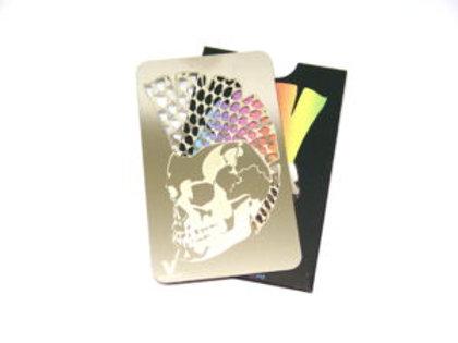 Punk Skull Grinder Card