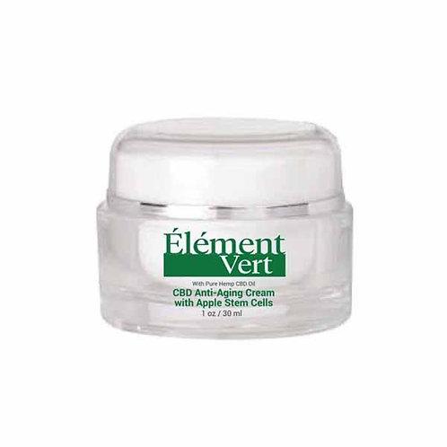 Crème anti-âge d'element Vert  avec cellules souches de pommes 30ml