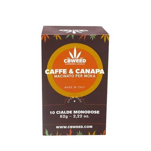 Café à base de chanvre et 10 capsules à dose unique