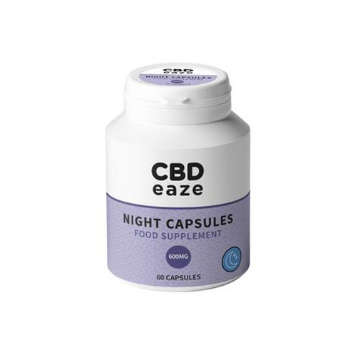 CBDeaze 600mg CBD Night Capsules - 60 Capsules