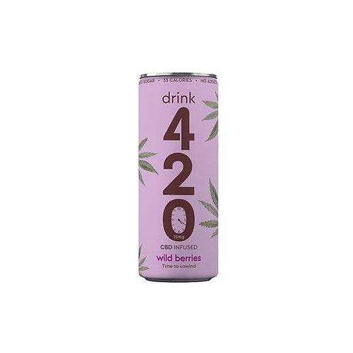 Drink 420 Boisson gazeuse infusée – Fruits des bois 15 mg x12