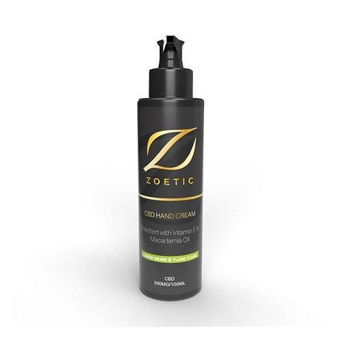 Zoetic 300mg Hand Cream 100ml-Lemongrass & Ylang Ylang