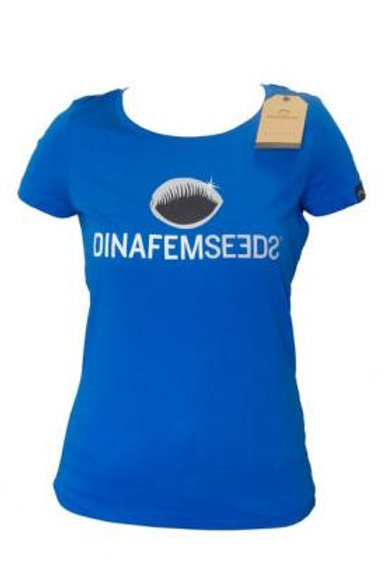 T-shirt Grand Logo Fille Bleu