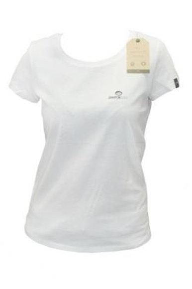 T-shirt small logo Fille blanc