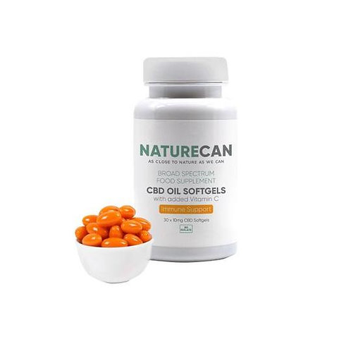 Naturecan 10mg  Softgels Oil with Vitamin C - 30 Capsules