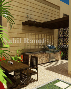 outdoor dining&barbecue area