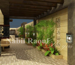 outdoor corridors & side fence