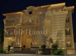 classic villa - night shot
