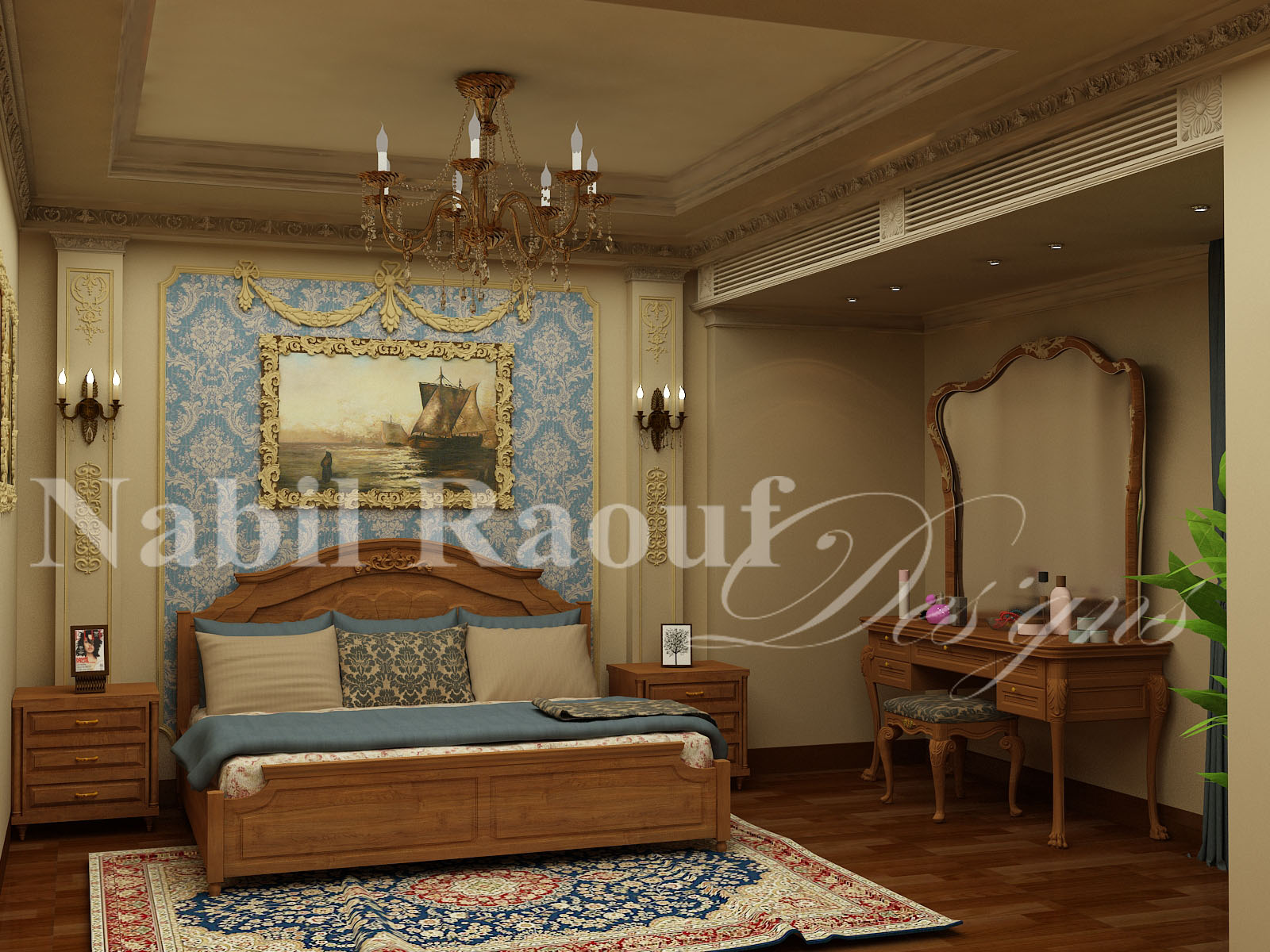 classic master bedroom-3