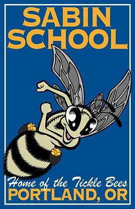 """11""""x17"""" Sabin School Tickle Bee Poster"""