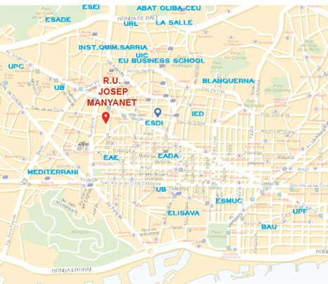 Localización Residencia Universitaria Josep Manyanet