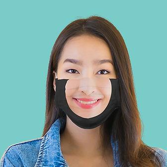 masque avec sourire imprimé