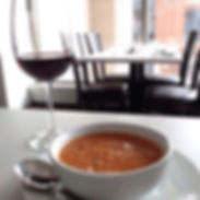 Red wine & housemade soup