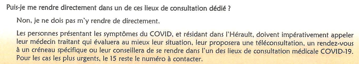 Covid-19 je ne dois pas m'y rendre directement