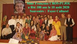 Françoise CROS-PUJOL : centenaire