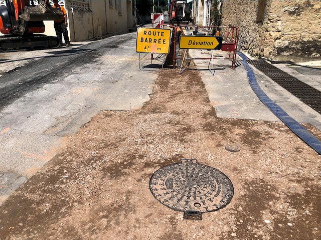 assainissement rue stade