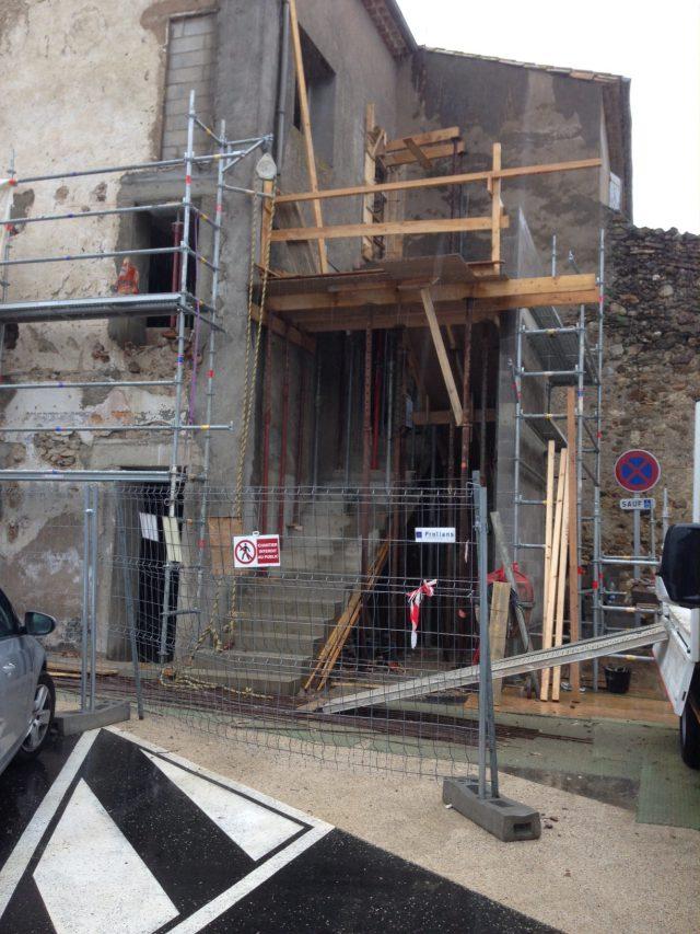 Escalier extérieur terminé