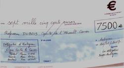 7500 € de dons pour le Cancer