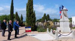 gerbe 8 mai 2020 cimetière Autignac