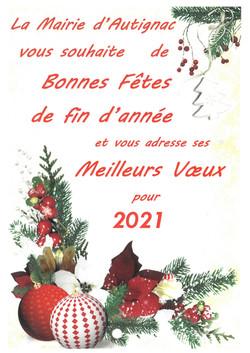 Joyeux Noël Meilleurs Voeux 2021