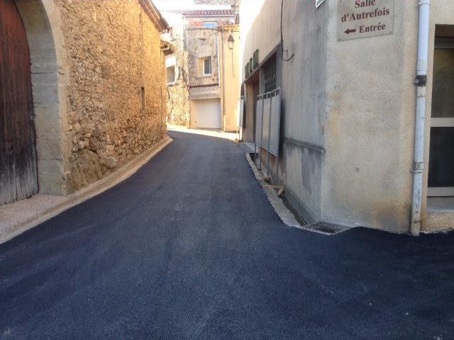 rue de la République goudronnée