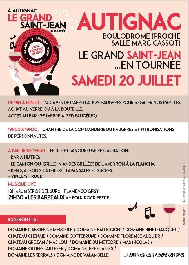 Fête AOC Faugeres 2019 Autignac