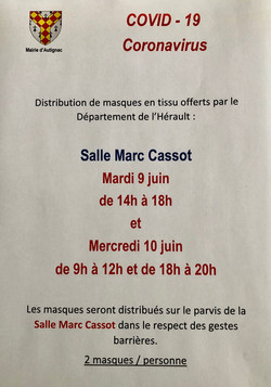 distribution masques Autignac