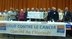 Ligue Cancer chèque 8000 euros