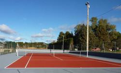 Réfection du cours de tennis