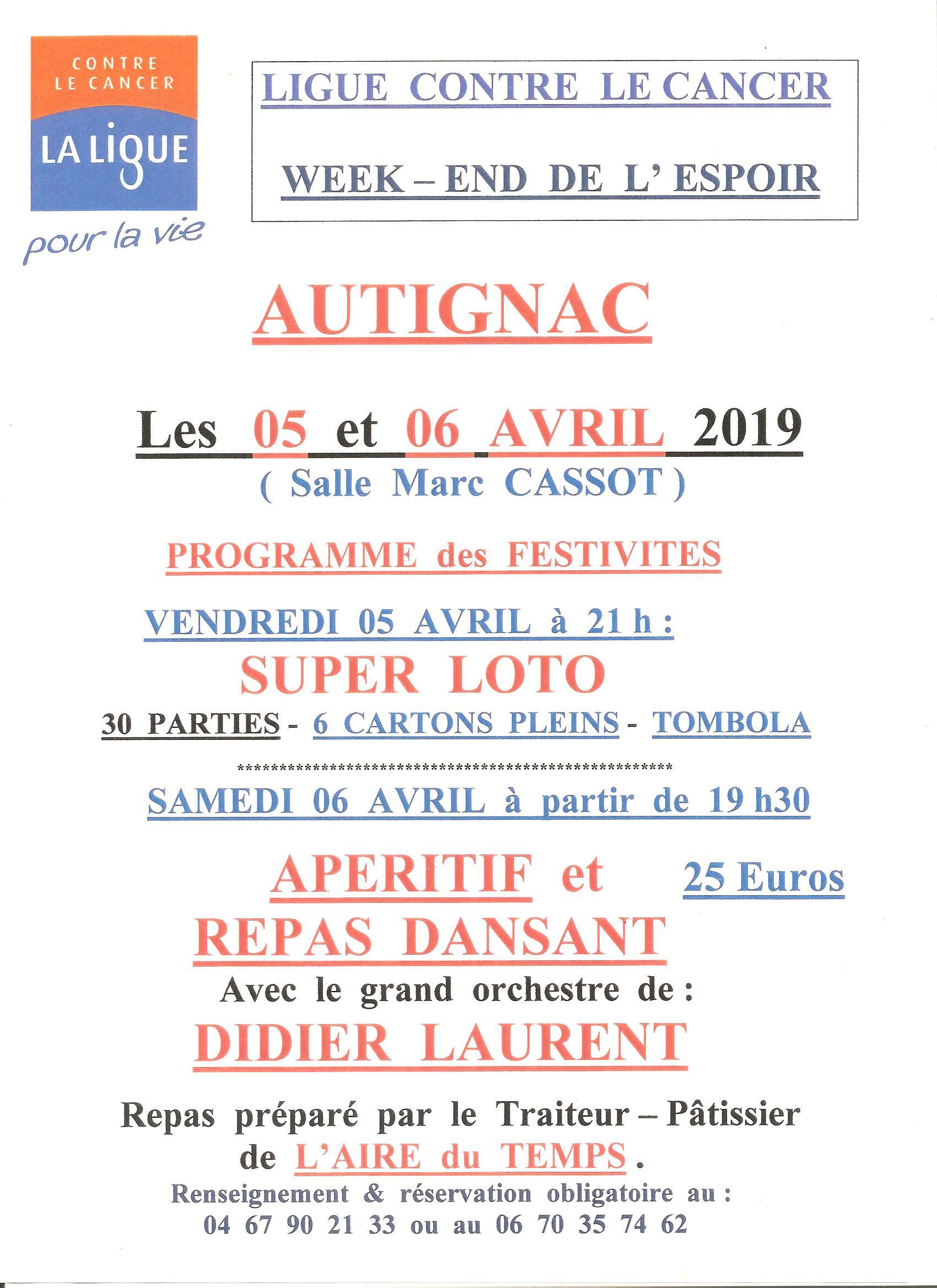 cancer week end espoir 2019