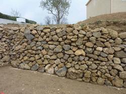Mur en pierre sèche Poujade
