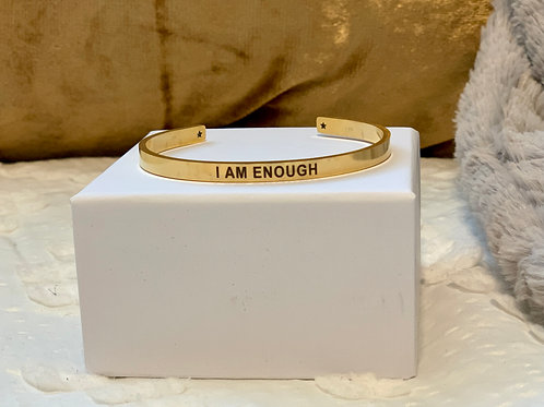 I AM ENOUGH Gold Cuff