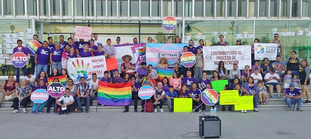 La comunidad apoyó la marcha