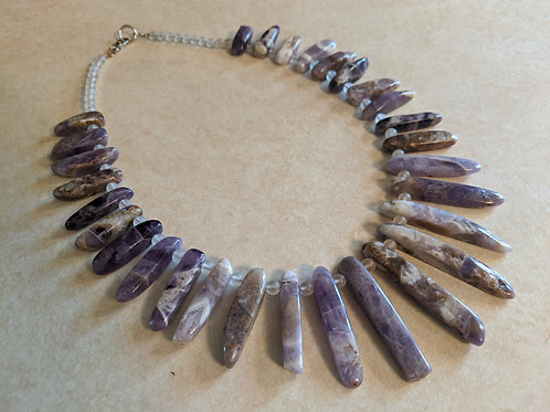 Amethyst & Quartz Necklace