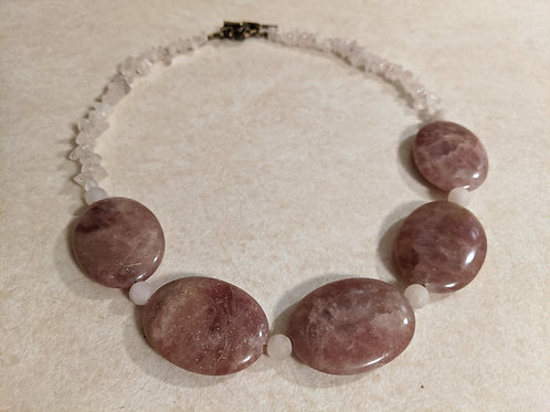 Pink Aventurine & Rose Quartz Necklace
