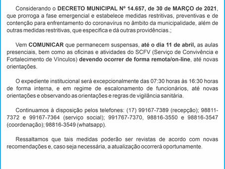 Comunicado Coronavírus 31-03