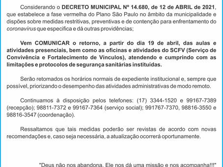 Comunicado Coronavírus 15-04