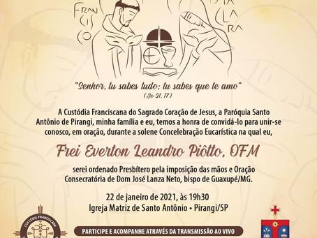 ORDENAÇÃO PRESBITERAL - Frei Everton Piôtto, ofm.