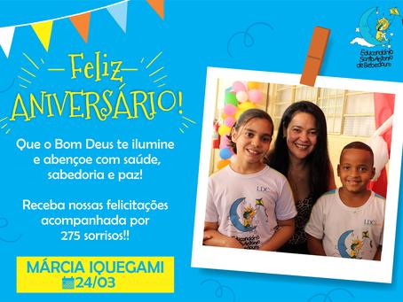 Parabéns, Márcia Iquegami!