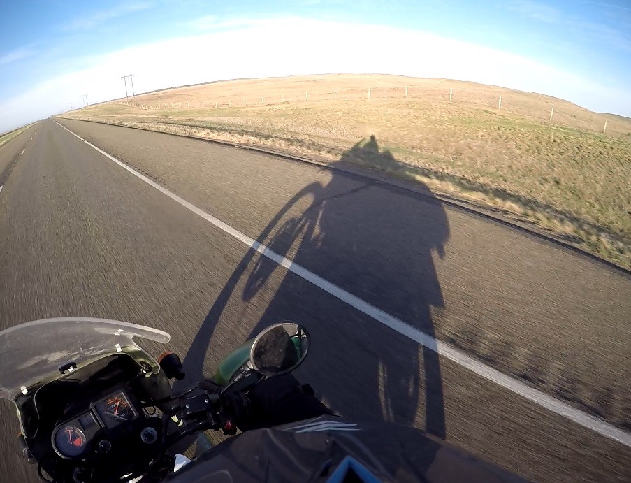 Warm and sunny morning rolling out of the Badlands