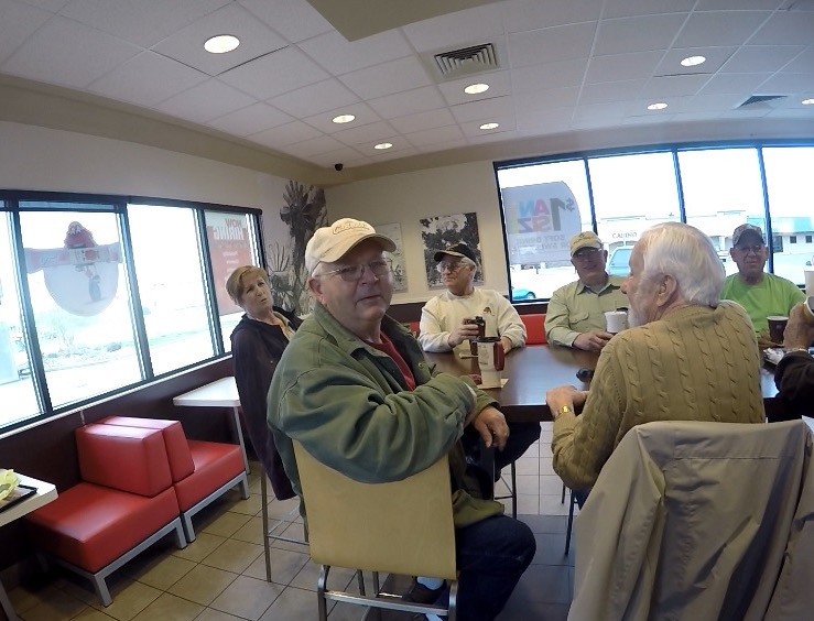 Old fellows at the Golden Arches