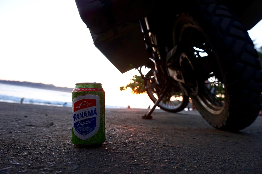 Post surf sunset beer time