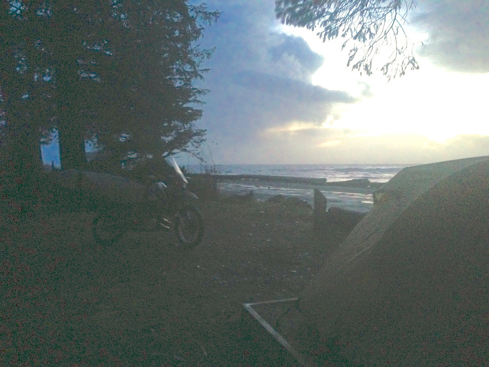 Camping surfing and motorcycling