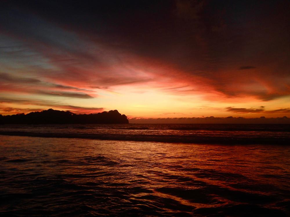 Sunset over La Punta