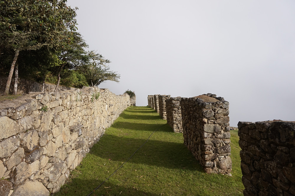 Cloudy, foggy ruins before the crowds