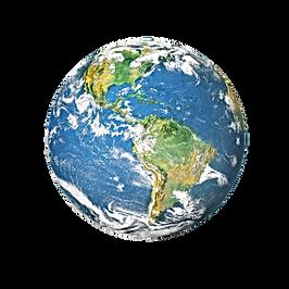 Earth globe isolated on white background
