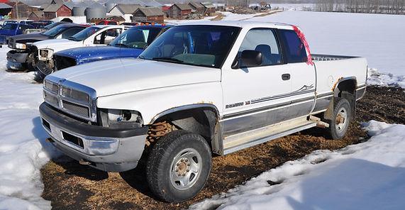Dodge Ram Wrecking Pickup Truck 4X4